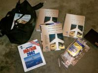 complete airplane flight kit never used with log book