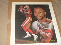 jerry rice lithograph picture sing by the author, goes