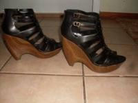 Terrific pair of Jessica Simpson high-heel wedge