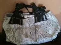 Jessica Simpson purse. Large snakeskin purse, black and
