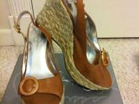 Jessica Simpson light tan natural leather slingback