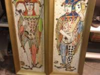 "Jester Wall Art Fun and Funky. 32"" High x 13"" Wide."