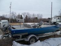 2001 Lowe 170SE 17' Bass boat with 2001 Loadrite
