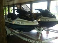 2- 2005  Yamaha GTX Supercharged Sea Doos FOR SALE