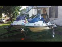 2001 kawasaki and 1997 sea doo jet skis.  Both run