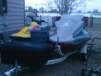 two jet skis for sale one is a 96 and the othier one is