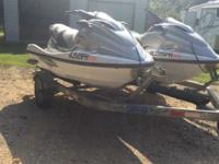 Two Yamaha XLT 1200 Wave Runners Color Silver 2001,