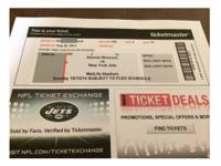 TWO tickets to see the New York Jets verses the Denver