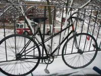 "20.5"" Lugged French steel frame. New tires, freewheel,"