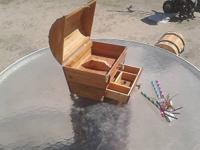 THIS BEAUTIFUL TREASURE CHEST CEDAR JEWELRY BOX HAS