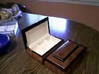 beautiful new wood jewelry boxes. 2 available at $10