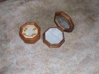 Two nice old jewelry boxes in excellent condition -
