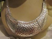 Exciting Silver Tone Necklace. A show stopper. $20.00