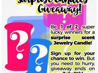 I am having a Giveaway for Mystery Surprise Candles.