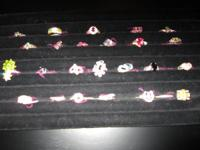 Big range of rings, bracelets, necklaces and earrings.