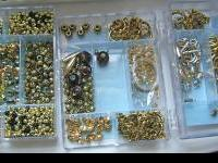 Swarovski crystals, various beads, metal spacers,
