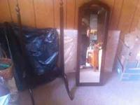 Jewelry mirrored armoire $55.00, it's both decorative