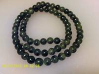 "Gorgeous Jade 30"" necklace.Price is definitely a"