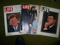 LIFE magazines from Kennedy assassination and following