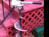 Jiffy ice auger 3 hp runs but needs some work but price