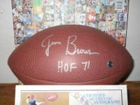 the great Jim Brown autographed NFL replica football