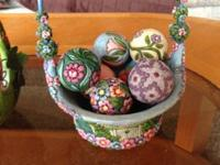 Jim Shore Blossom of Spring Basket with 7 Eggs - sells