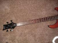 I am selling my Jimmy Dean Bass Guitar for $90. The