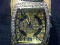 Diamond jo jo watch...2ct face...classic watch...for