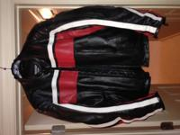 Joe Rocket Old School Leather Motorcycle Jacket.