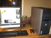 UPGRADED & A NICE DELL  DESK TOP AS ' PICTURED '/ HAS