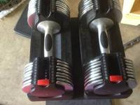 Joe Weider adjustable dumbbells. 15-50 pound at the