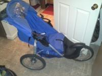 2yrs old blue jogger stroller. Perfect working