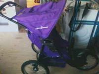 Baby Trend expedition jogging stroller Color is purple