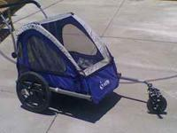 Blue Jogging Stroller/ Bike hauler in great condition