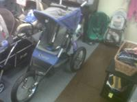 We have an In Step 5K jogging stroller. It is blue,