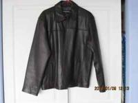 Size medium John Ashford Leather Jacket Got it for xmas