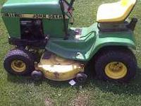 I HAVE A JOHN DEER 111 IM SELLINIG OR WILLING TO TRADE