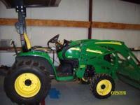 2009 John Deer 3320 Tractor, 33HP Hydrostat, 4 Wheel