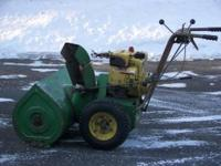 For sale is a John Deer 832 snowblower 8 hp. with 32""