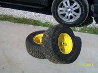 I have two back tires for John Deer mower. They are