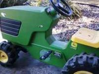 I am selling my sons John Deer Pedal Tractor with the