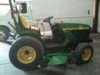JOHN DEER TRACTOR 4100, 3 CYLINDER, 207 HOURS, AND A 60