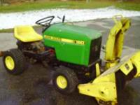 John Deer 180 tractor w/snow blower,body in real good