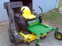 I HAVE FOR SALE A JOHN DEERE Z445 WITH A 54 INCH MOWER