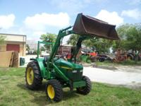 JOHN DEERE 1070 HAS QUICK ATTACHFRONT END LOADER AND