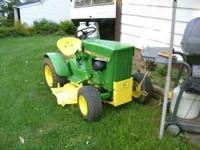 1964 JOHN DEERE TRACTOR AND DECK,ALL GONE THROUGH AND