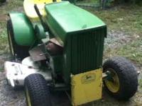 John Deere 110- 1968 Round fender. Yellow plate. Run
