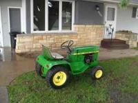 I have a john deere 110,painted 3 years ago runs good