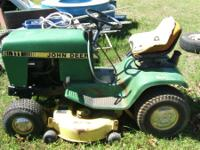 JOHN DEERE 111 RIDING MOWER $500 JB  // //]]> Location: