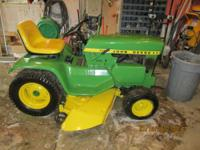 I have a John Deere 112 tractor for sale. It is totally